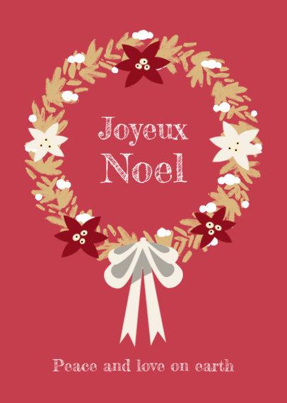 Greeting Card Design Maker to Wish a Joyful Christmas 3134e
