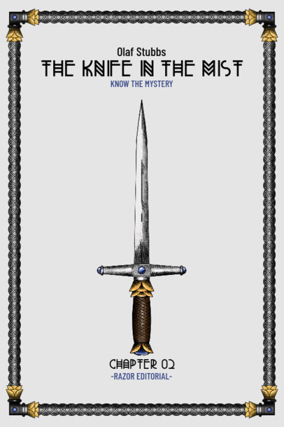 Book Cover Maker Featuring a Medieval Knight's Sword Illustration 3133d