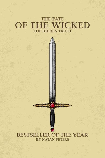 Book Cover Design Maker for a Medieval-Themed Bestseller Novel 3133e