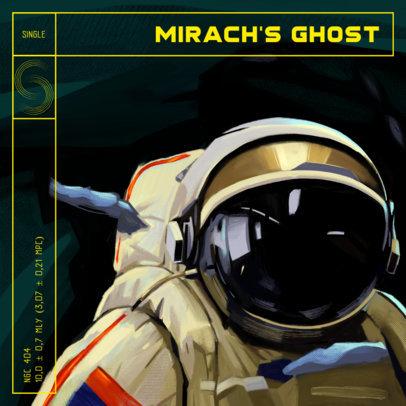 Rock Album Cover Design Generator Featuring an Illustration of an Astronaut 3805c