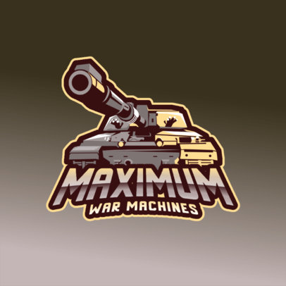 Gaming Logo Maker with a Graphic of a Powerful War Machine 3819a