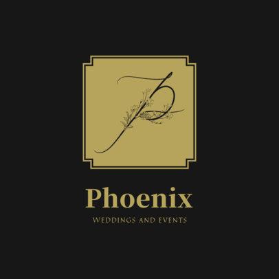 Elegant Logo Maker for Wedding Planners Featuring a Floral Capital Letter 3148e-el1