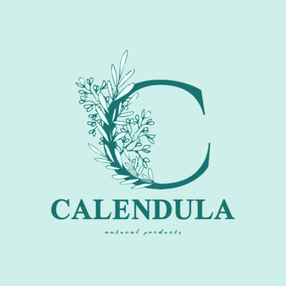 Logo Generator Featuring a Capital Letter Surrounded by Flowers 3142c-el1