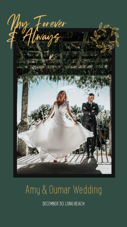 Wedding-Themed Instagram Story Creator with an Elegant Layout 3154b