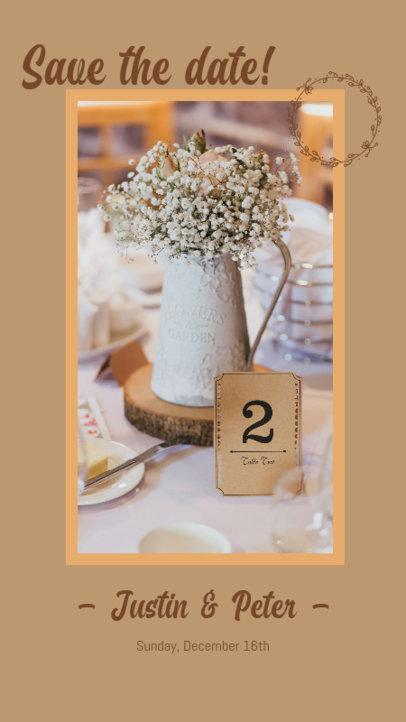 Instagram Story Creator for a Modern-Day Wedding Invitation 3154g