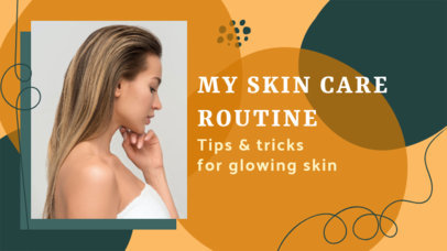 YouTube Thumbnail Design Template for a Skin Care Tutorial 3142f