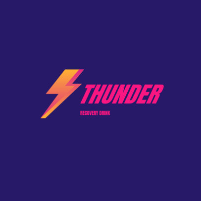 Logo Maker for a Recovery Drink with a Lightning Graphic 3831d