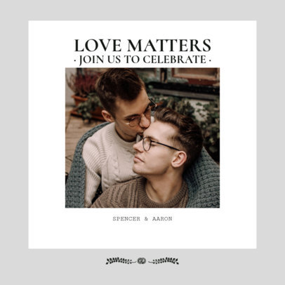 Instagram Post Maker for an LGBT Wedding Invitation 3156f
