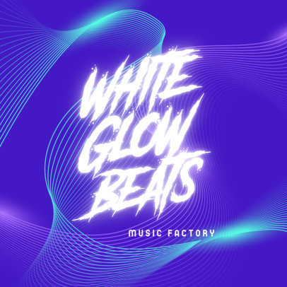 Music Logo Maker Featuring Colorful Abstract Backgrounds 3855