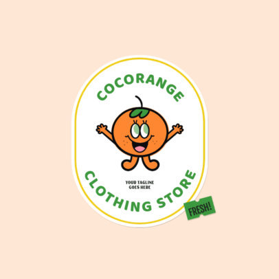 Clothing Brand Logo Maker Featuring Fruit Patches 3850