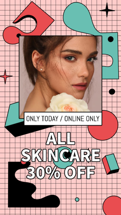 Colorful Instagram Story Creator for a Skincare Promo 3170c