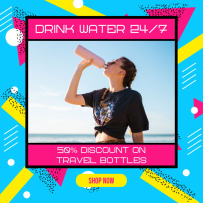 Ad Banner Template with a Colorful Design for a MLM Water Bottles Brand 3173a