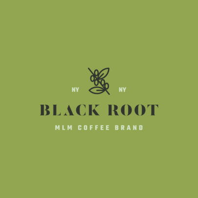 Online Logo Creator for an MLM Coffee Brand Featuring a Minimal Layout 3852f