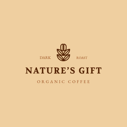 MLM Logo Template for an Organic Coffee Brand 3852h