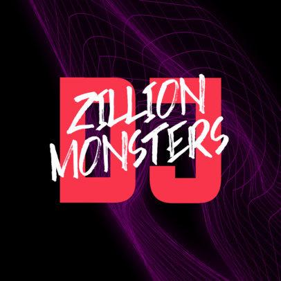 DJ Logo Maker Featuring Trendy Typography 3854