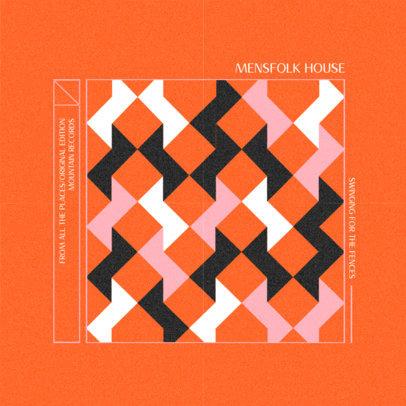 Folk Music Album Cover Creator with Vintage Patterns 3160b
