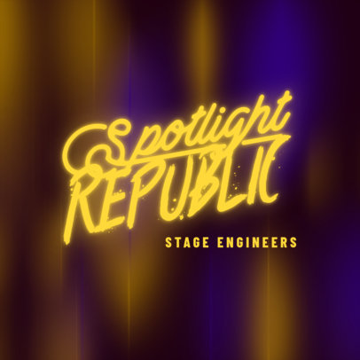 Music Logo Generator for a Stage Management Company Featuring a Glowing Font 3855b