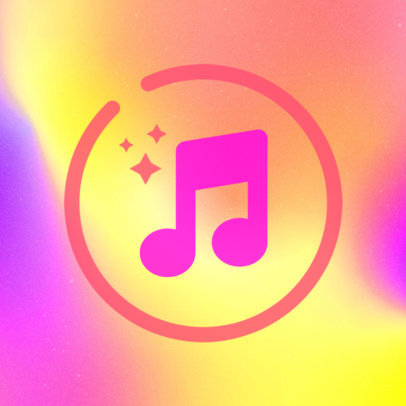 Minimalist iOS App Icon Template with a Music Graphic 3180c