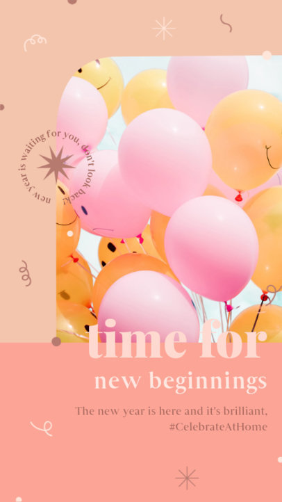 New Year-Themed Instagram Story Generator Featuring a Pastel Color Palette 3198f