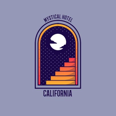 Hotel Logo Maker Featuring a Starry Night Landscape 3874a