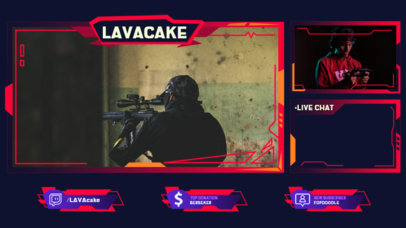 Twitch Overlay Maker for a Shooter Games Streamer 3214-el1