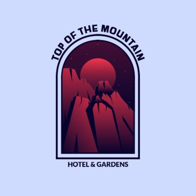 Hotel Logo Maker Featuring an Adventurous Landscape 3874h