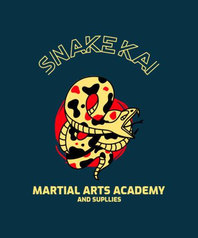 T-Shirt Design Creator for a Martial Arts Academy Featuring a Snake Graphic 3203e