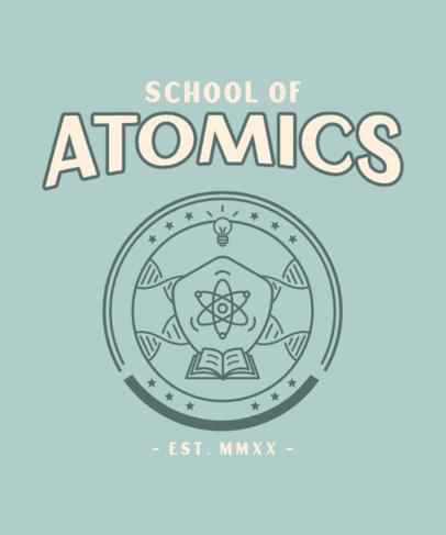 Professional T-Shirt Design Maker for a Science School 3208d