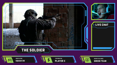 Twitch Overlay Design Creator for Intense Gamers  3212b-el1