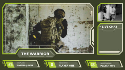 Twitch Overlay Design Maker with a Military Style 3212e-el1