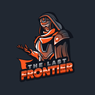 Logo Maker for a Gaming Squad Featuring a Destiny-Inspired Character 3884b