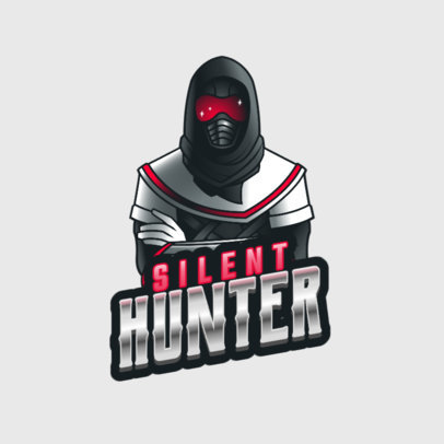 Destiny-Inspired Gaming Logo Maker Featuring a Hunter Character 3884l