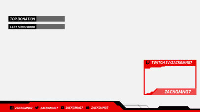 Simple Twitch Overlay Design Maker Featuring a Colored Webcam Frame 3193h