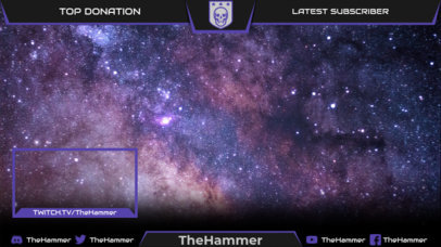 Twitch Overlay Design Template with an Aesthetic Inspired by Destiny 2 3222