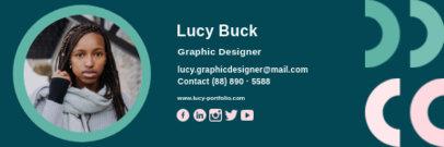 Email Signature Maker with a Graphic Designer's Portrait 3233c