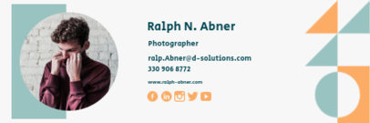 Email Signature Generator for a Professional Photographer 3233b