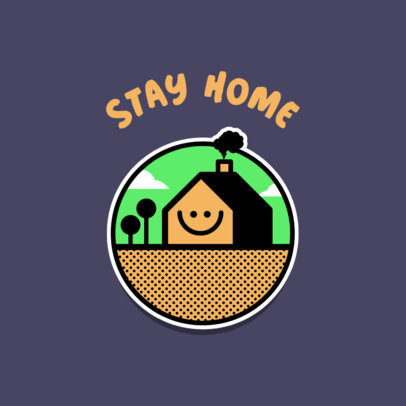 Online Logo Maker Featuring a Stay-at-Home Graphic 3921d