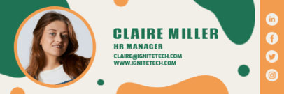 Cool Email Signature Design Creator for an HR Manager 3232a