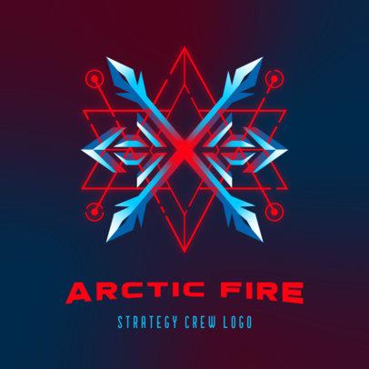 Gaming Logo Creator with a Minimalistic Snowflake Graphic 3916e