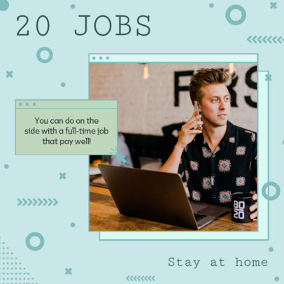 Instagram Post Creator with Jobs Ideas to Start From Home 3235e
