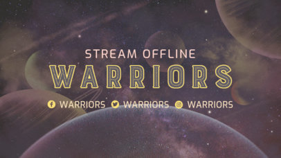 Destiny-Inspired Twitch Offline Banner Template Featuring a Planetary Background 3223g