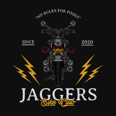 Logo Generator for Biker Clubs Featuring Thunder Graphics and Vintage Motorcycles 3270-el1