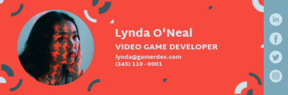 Email Signature Template for a Video Game Developer 3232j