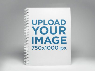 Spiral Notebook Template Standing on a White Surface a14833