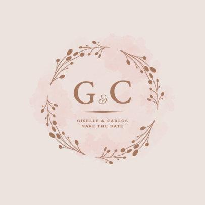 Monogram Logo Template for Wedding Ceremonies 3919d
