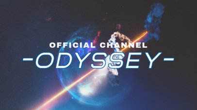 Twitch Banner Template for a Destiny-Inspired Gaming Channel 3223d