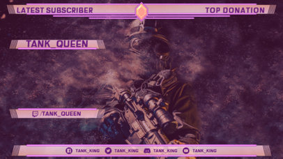 War-Themed Twitch Overlay Creator Featuring a Special Forces Soldier 3225b