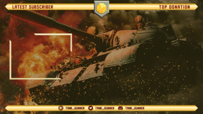 World of Tanks-Inspired Twitch Overlay Template for Streamers 3225h