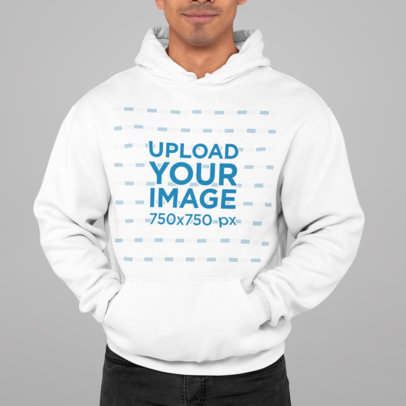 Hoodie Mockup Featuring a Man Standing at a Studio M826