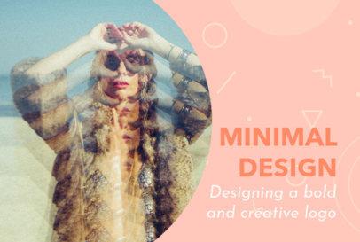 Minimal Fiverr Gig Image Template for a Design Service 3238g